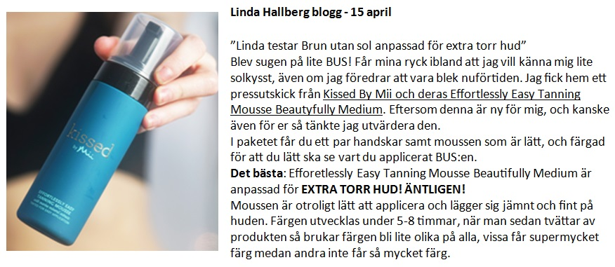 Linda Hallberg 15 april